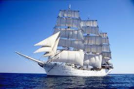 White sailing ship