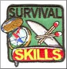Survival skills badge